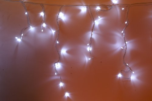 - LED Snowing Icicle Lights - Christmas Decorations (600 White)