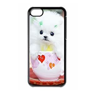 Case for IPhone 5C, the Smallest Dog Case for IPhone 5C, Naza Black