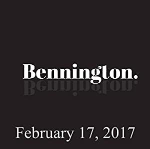 Bennington, February 17, 2017 Radio/TV Program