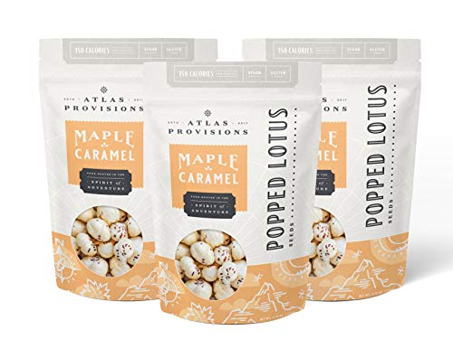 Atlas Provisions, Lotus Seeds Popped Maple Caramel, 4.75 Ounce