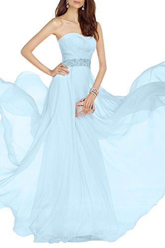 Elegant Tanzenkelider Jugendweihe Kleider Brau Blau mia Partykleider Promkleider La Himmel Chiffon Festlichkleider Abendkleider Lang vT1Ux