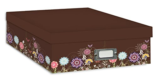 Growing Flowers Pioneer Scrapbooking Storage Box with Printed Designs