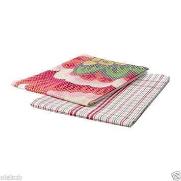 IKEA inbjudande Dish toalla 2 Pack Flores Cuadrado de cocina toalla de mano decoración: Amazon.es: Hogar
