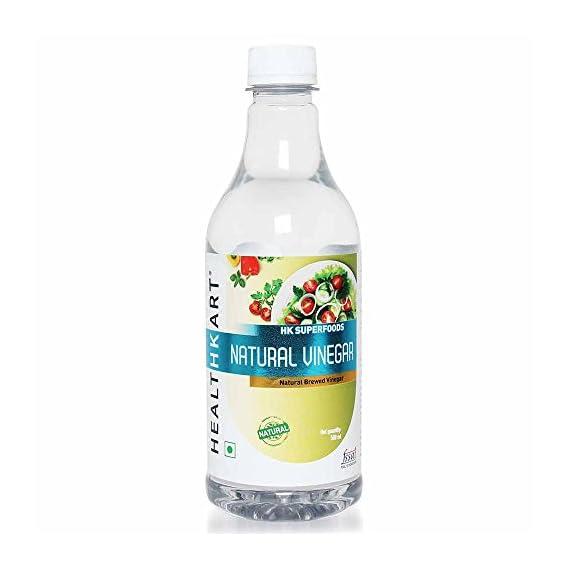 HealthKart Natural White Vinegar, 0.5 L Unflavoured