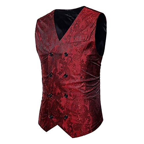 Vest Travail Noir Mode Décontracté Blazer Men Made Vest Royal Manteau M Double Xl Rouge Outwear Poitrine Taille Costume couleur 2018 Hommes Coloré Taille Blue vTqn08