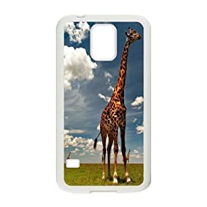 Yo-Lin case FXYL253054Giraffe and sunset protective case cover For Samsung Galaxy S5