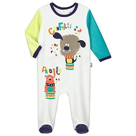 51da72d961a7c Pyjama bébé velours Pastille - Taille - 9 mois (74 cm)  Amazon.fr ...