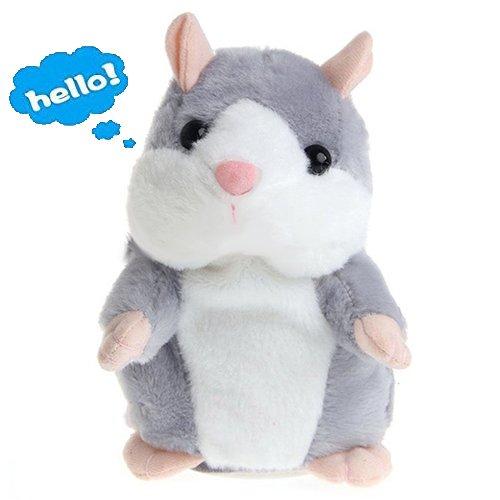 Lalagofe Peluche Parlante Talking Hamster Jouet adorable Interessant pet interactive en peluche avec sons jouets pour enfants 15 cm Cadeau Noël/ Anniversaire/ Grâces/Party (Gris) product image