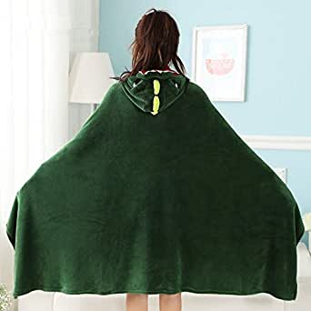 hokuga dinosaur wearable blanket with hooded for kids and adults cartoon soft. Black Bedroom Furniture Sets. Home Design Ideas
