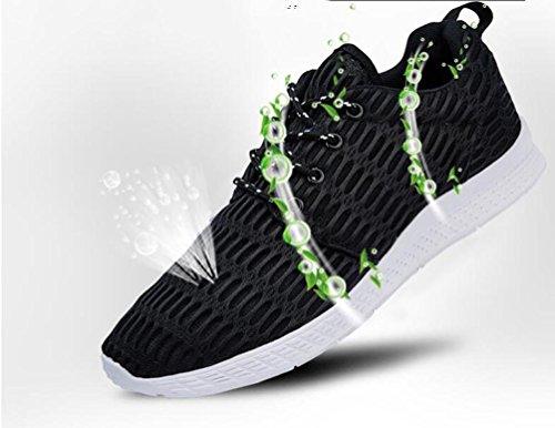 De malla ligera de ejecución de tenis de tenis deportivo cómodo de encaje zapatos de los hombres UE tamaño 35-48 Grey