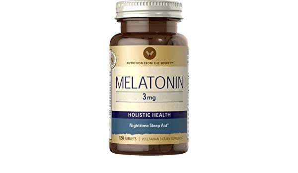 Amazon.com: Vitamin World Melatonin Sleep Aid, 3mg, 120 Tablets ...
