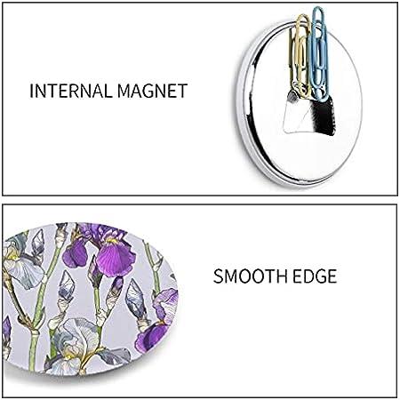 Abrebotellas de metal con flor de Iris de primavera retro romántico, abridor de botellas de pared de 2 piezas, imanes de nevera
