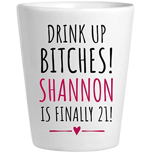 Shannon 21st Birthday Gift: Ceramic Shot Glass