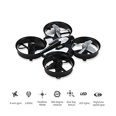REALACC H36 Mini Quadcopter Drone 2.4G 4CH 6 Axis Headless Mode Remote Control UFO Nano Quadcopter RC Toy RTF Mode 2
