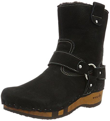 Woody NENA - Botas Antideslizantes de cuero mujer negro - Schwarz (Frizzy nero)