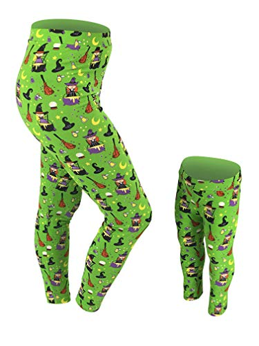 Unique Baby Womens Mommy and Me Halloween Witch Print Leggings -