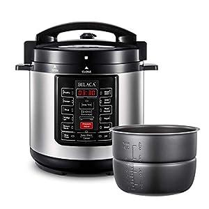 Electric Pressure Cooker,BILACA 6 Qt 9-in-1 Multi Programmable Pressure Cooker,Slow Cooker,Rice Cooker,Steamer,Yogurt… 16