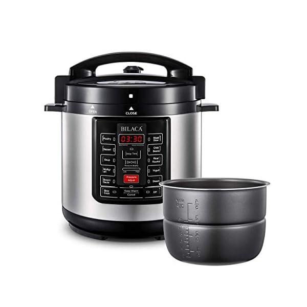 Electric Pressure Cooker,BILACA 6 Qt 9-in-1 Multi Programmable Pressure Cooker,Slow Cooker,Rice Cooker,Steamer,Yogurt… 1