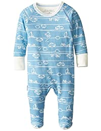 Kushies Baby It's My Planet 2 Side Zip Sleeper, Blue Print, 3 Months