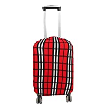 uxcell® Polyester Plaid Pattern Suitcase Elastic Dustproof Cover Bag 18-20 Inch Colorful