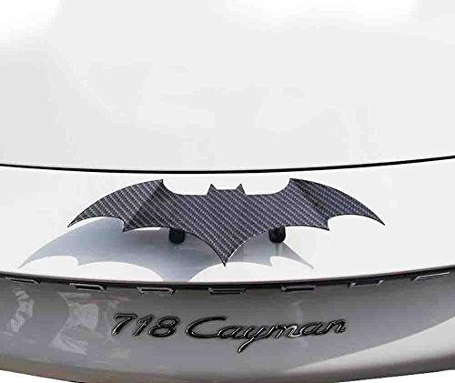 BMDHA Car Decorative Spoiler Wing Fashion Personality Universal Style Carbon Fiber Mini Bat Tail,Black
