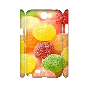 3D Colorful Candy Granule Samsung Galaxy Note 2 Case Cute For Girls, Case For Samsung Galaxy Note2 [White]