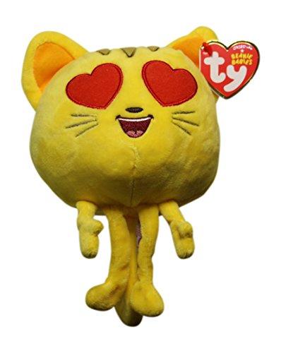Ty Emoji Beanie Regular - Cat Heart Eyes -