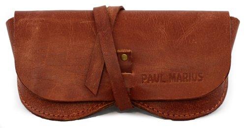 PAUL MARIUS brillenetui aus leder geeignet für alle formate Bei Vintage-Stil farbe braun