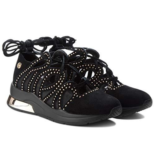 De Zapatillas Para Ante Jeans Mujer Liu Negro Jo xUwzStzq6
