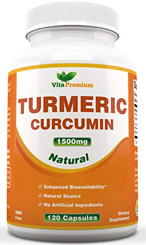 Turmeric Curcumin 1500mg with Black Pepper Extract,120 Veggie Capsules (4 MONTH SUPPLY), Powerful Anti-Inflammatory & Antioxidants – Promotes Joint Health, Helps Reduce Pain and Inflammation Review