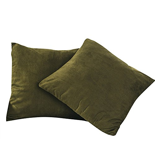 BEST DREAMCITY Set of 2 Faux Suede Cushion Covers/Pillowcase Sofa (18