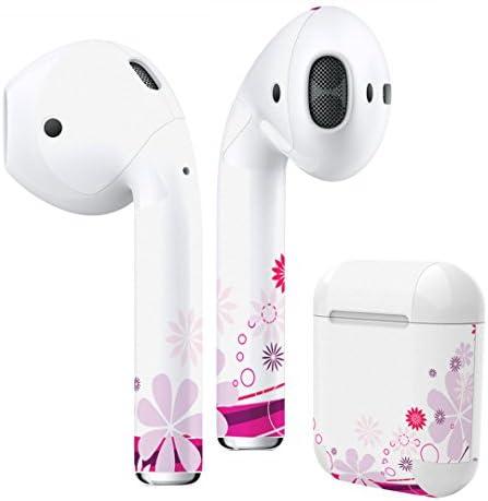[スポンサー プロダクト]igsticker Air Pods 専用 デザインスキンシール airpods エアポッド apple アップル AirPods 第一世代(2016)airpods2 第二世代(2019)対応 イヤホン カバー デコレーション アクセサリー デコシール 005019 フラワー 花 ピンク シンプル