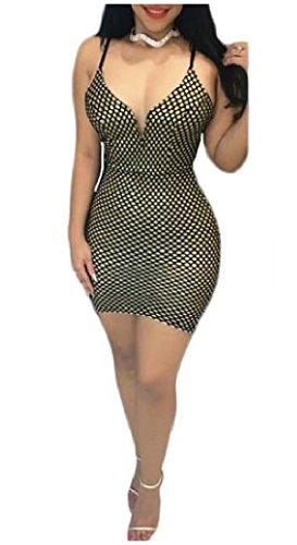 Sling Green Mini Plaid Backless Women's Spaghetti Bodycon Strap Dress Coolred 0Rp1W