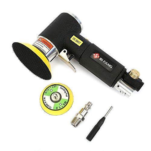 SI FANG 2'' 3'' Mini Orbital Air Sander for Auto Body Work,Latest Stable Version (Polisher Mini Pneumatic Chicago)