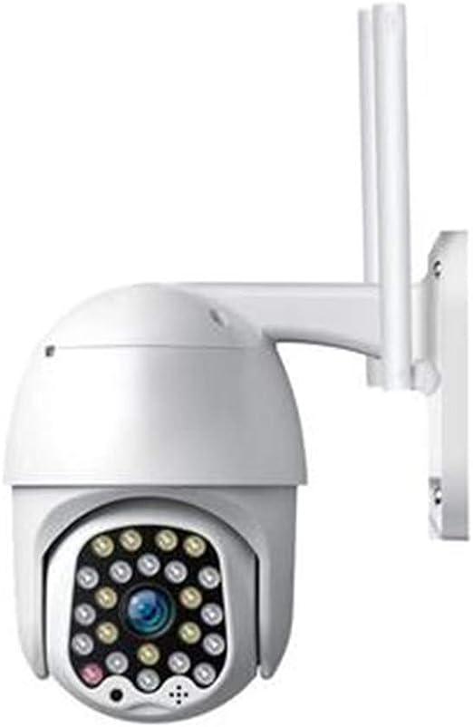 Webcam, impermeable al aire libre de la nube Billar Máquina de rotación de 360 grados inalámbrico de monitoreo remoto de la red de telefonía por Internet inalámbrico de alta definición del blanco