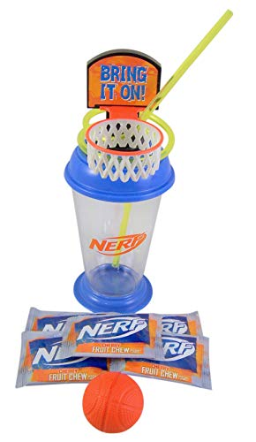 Basketball Sipper Cup with Foam Ball and Candy, 7 1/4 - Basketball Cherry