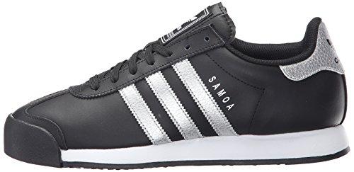 Adidas Originals Men's Samoa Fashion Sneaker, Black/Metallic Silver/White, 9 M US