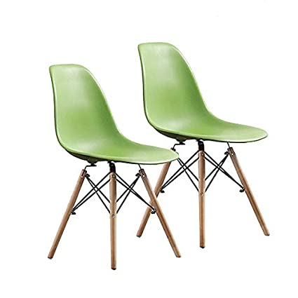 Prime Buschman Set Of Two Green Mid Century Modern Dining Room Wooden Legs Chairs Dailytribune Chair Design For Home Dailytribuneorg