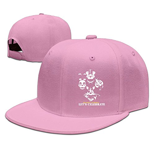 AAWODE Unisex Five Nights at Freddy's Game Plain Adjustable Snapback Hats Caps Pink (Five Nights At Freddys Cool Math Games)