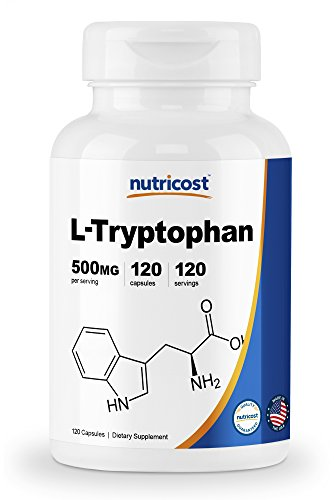 - Nutricost L-Tryptophan 500mg, 120 Capsules