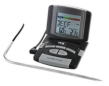 TFA 14.1502 Termómetro Digital para rustidos y Carne, Negro, Gris: Amazon.es: Hogar