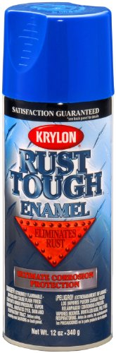 Krylon K09225007  'Rust Tough' True Blue Rust Preventive Enamel - 12 oz. Aerosol