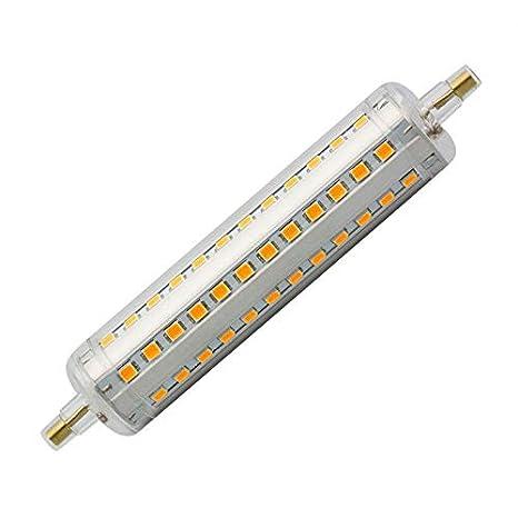 Bombilla LED R7S Slim 189mm 18W Blanco Neutro 4000K efectoLED: Amazon.es: Iluminación