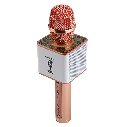 Karaoke Machine Wireless Portable Microphone – Rechargeable Handheld Karaoke System With Built-In Bluetooth – Compatible With IOS Android, Smartphone And PC - Wireless KTV Device by ()