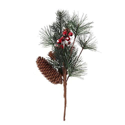 BESTOYARD Mini árbol de Navidad con Cono de Pino navideño y Decoraciones para Fiestas navideñas de Holly Berries (32 cm)