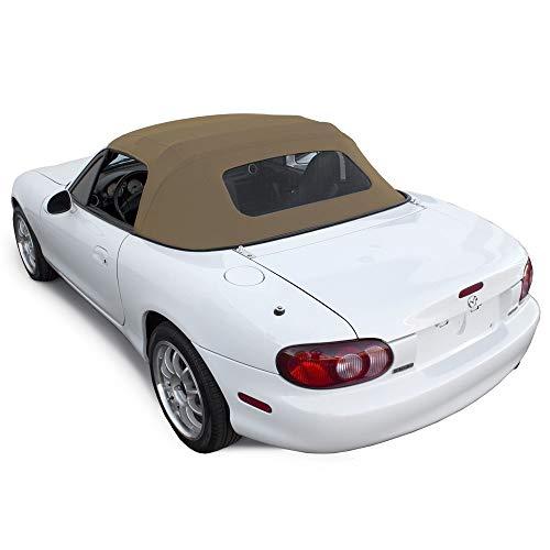 2e39b5d2ec9f Mazda Miata Convertible Top 1990-2005 One-Piece Non-Zippered Heated Glass  Window