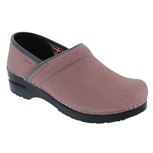Sanita Women's Professional Electra Oiled Leather Clog (Factory 2nd) (Color: Rose/Size: 38 - Sanita Clogs Oiled