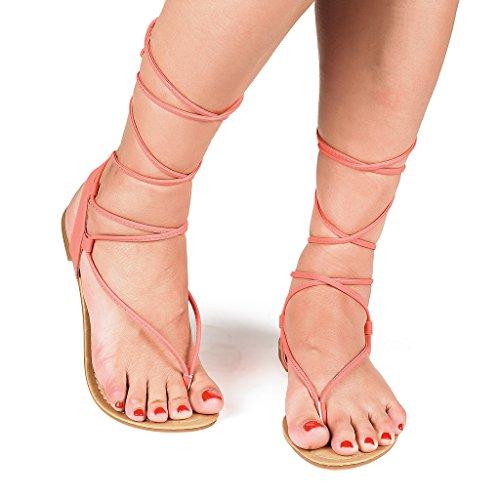 DREAM PAIRS Fashion Crisscross Gladiator