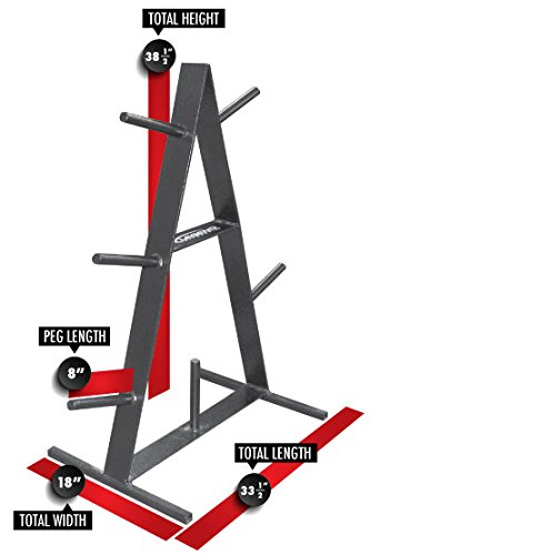 Legend Fitness 3126 USA-Made A-Frame Plate Tree for Standard or Olympic Weight Lifting Plates - Weight Plate Rack - Weight Plate Storage