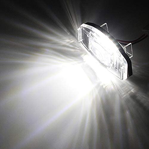 TOOGOO 2 Pcs Voiture LED Plaque DImmatriculation Lumiere Lampe Plaque DImmatriculation Lumiere Lampe pour Honda Civic Honda Accord Noir
